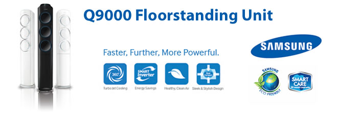 Q9000 Floorstanding Unit bottom banner
